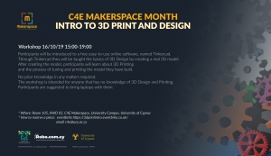 [16 Oct] C4E Makerspace Month: INTRO TO 3D PRINT AND DESIGN (2)