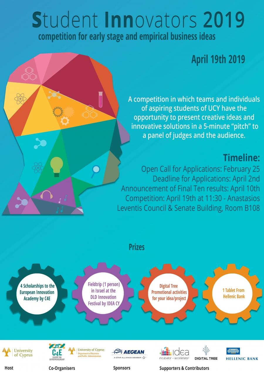 19 Apr] Student Innovators 2019 Competition (SINN2019)